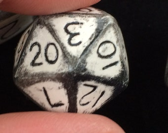 Custom D'20 single Di/Hand made Di/Gaming Dice/D&D dice