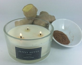 Nutmeg & Ginger Homemade 3 Wick soy Candle