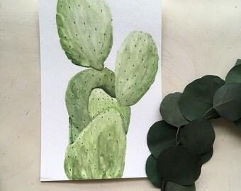 Desert Cactus- Original Watercolor
