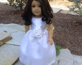 "18"" Doll Clothing/ American Girl doll Clothing/White long dresses/Wedding dresses"