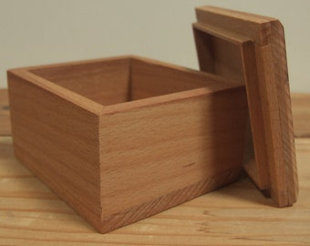 Wooden box - storage box - jewelry box - gift box - embroidery box - handmade box - small box - beech box