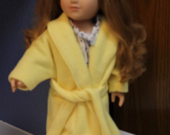 Yellow fleece robe