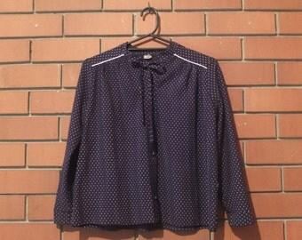 SALE!** Vintage Polka dot button-up blouse