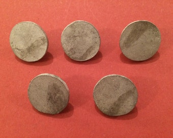 20mm Flat Pewter Button (5 Pack) - Re-Enactment, Living History