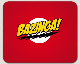Sheldon BBT Big Bang Theory Bazinga Joke Custom Mousepad