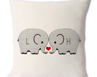 Elephant Love Cushion