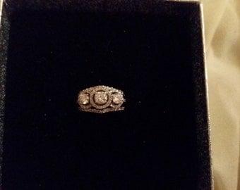 Stunning 14k White Gold Diamond Engagement Ring