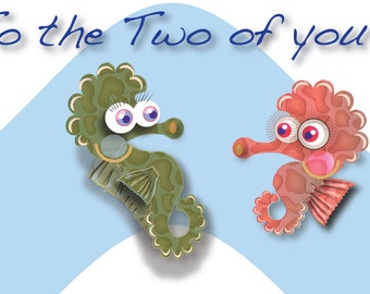 To the Two of you personalised and printable card