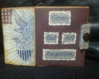 Gone but not forgotten, scrapbook photo album
