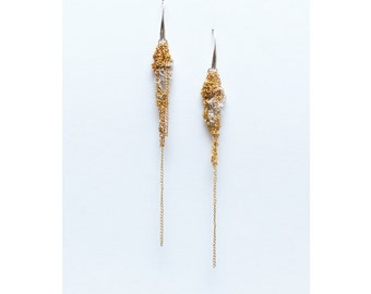 Golden cascade earrings