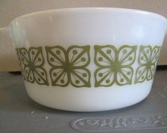 Pyrex Casserole Dish Verde Square Flowers No Lid
