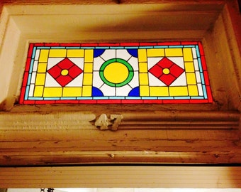 Victory  Stained Glass Transom