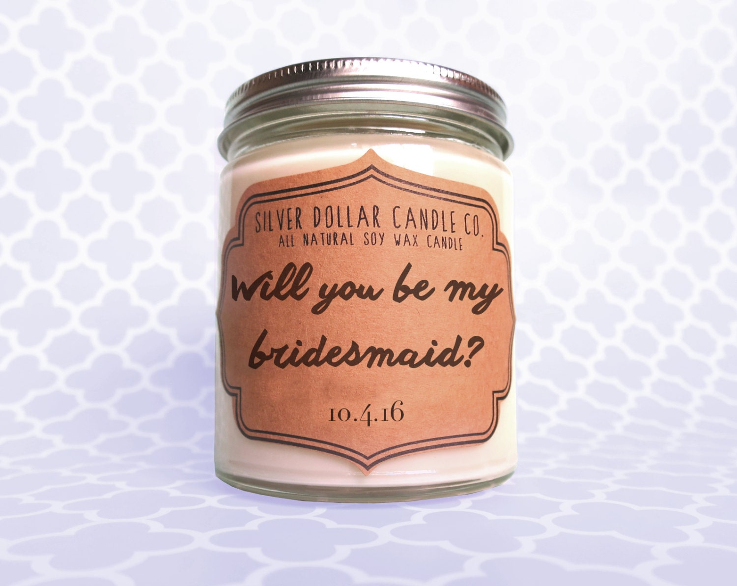 Bridesmaid Candle Will You Be My By Silverdollarcandleco