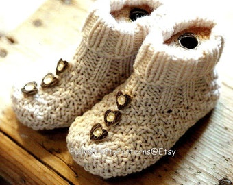 Instant Download - PDF Knitting Pattern - Super Styles of Baby Boots/Bootees/Slippers/Shoes
