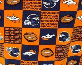 READY TO SHIP Denver Broncos Knotted Fleece Throw With Antipill Backing