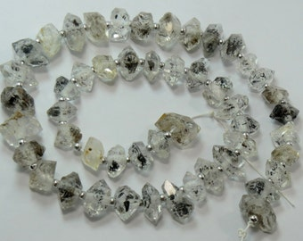 1 Strand Stunning Herkimer Diamond Quartz Crystals Double Terminated And 16 Inch Long