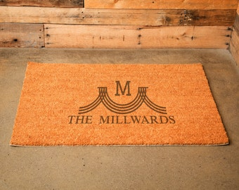 "Personalized Door Mat - ""The Millward"" Style 35 x 23 in."