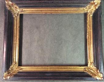 22k Gold and Black Ornate 11x14  Frame