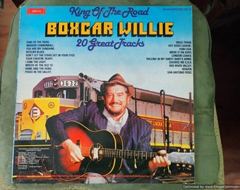 Boxcar Willie King of the road 20 great tracks Vintage Vinyl Record