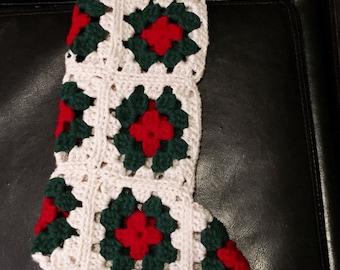 Granny Square Christmas Stocking