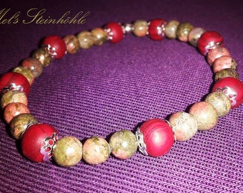 Bracelet Unakite loves RedWood