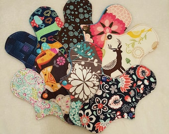 Pick Any 3 Assorted, 7.5-8in Thin Cloth Panty Liners