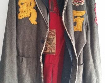 Vintage NWT Kaporal Groovy Military Style Jacket
