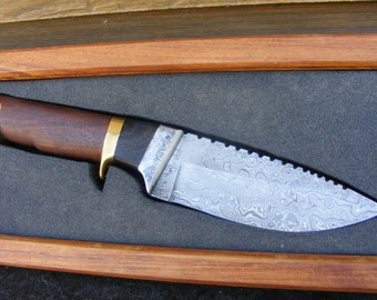 Damascus Sub-hilt Custom Combat/Hunting Knife
