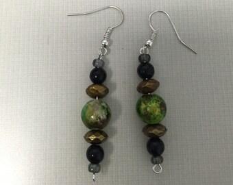 Mint Julep dangle earrings