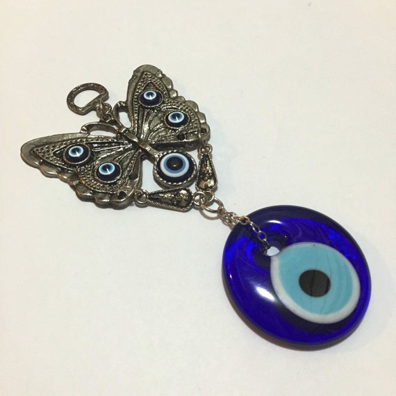 evil eye wall hanging with butterfly evil by