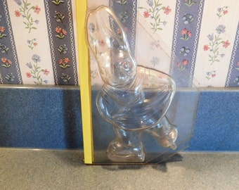 Ice Skating Girl Rabbit Vintage Plastic Candy Mold