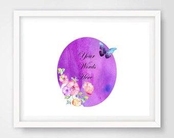 Digital Wall art, custom design, flower print