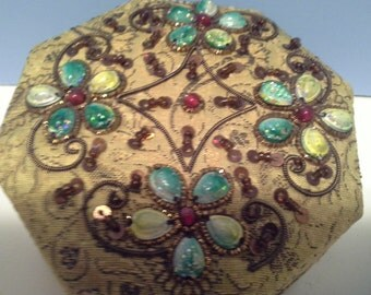 Made in India......cloth and beaded box