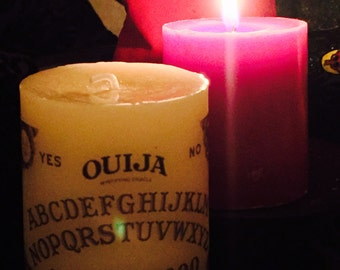 Vintage style ouija board candle
