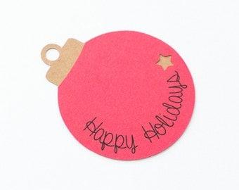 Set of 8 Christmas Gift Tags, Holidays Gift Tags, Ornaments Gift Tags, Holidays Favors Tags, Christmas Gift Decor, Christmas Ornaments Decor