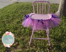 Tulle high chair banner || high chair banner || first birthday chair banner || ballerina first birthday || tutu cute birthday