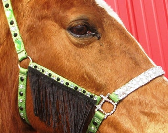 GREEN BLING HALTER