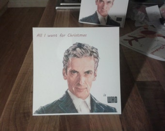 Doctor Who Christmas Card 12th Doctor Peter Capaldi.