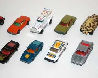 Vintage 1970's MATCHBOX LESNEY 'Superfast' Lot of 12 Diecast Cars - Made In England