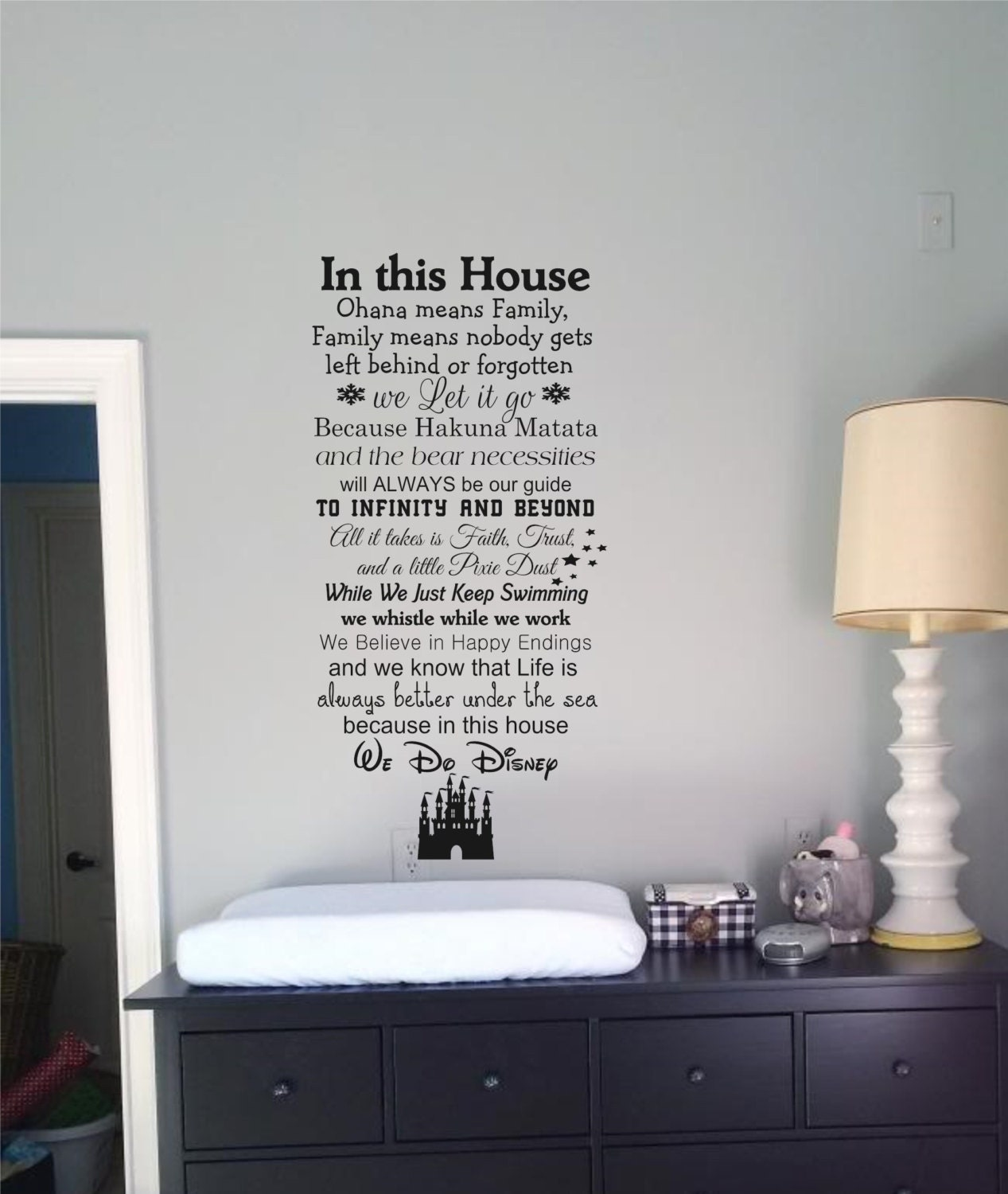 In this House We Do Disney Wall Decal Quote Wall Words
