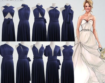 Bridesmaid dresses navy blue,set of 6 bridesmaid gifts,Maxi navy blue bridesmaids dress,navy blue bridesmaid dress, floor length dress
