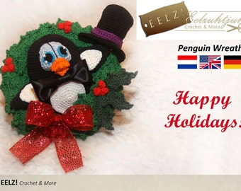 Penguin Wreath - Crochet Pattern
