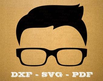 Geek SVG Nerd vector files for cricut, geek cutting files, clipart nerd, DXF files geek, silhouette nerd, svg geek fun