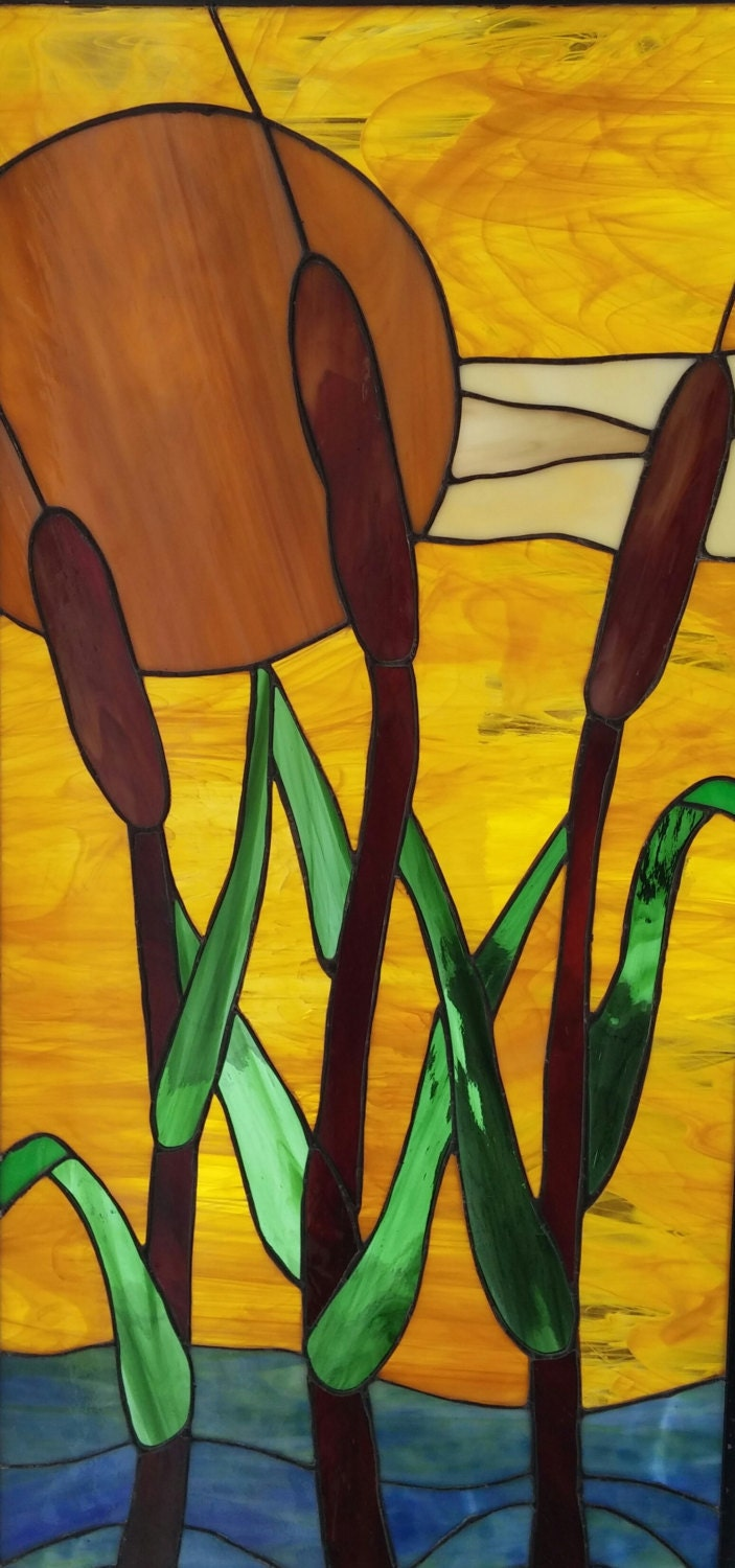 Cattails Stained Glass