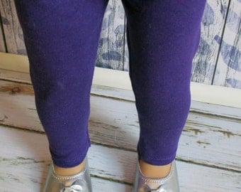 American Girl Purple Leggings/18-inch Doll