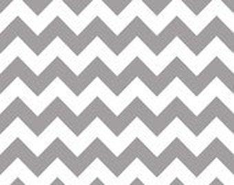 Medium Chevron Gray cotton fabric by Riley Blake Designs
