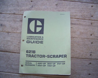 Caterpillar 621B Tractor Scraper Maintenance Guide 1974