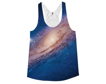 Andromeda Galaxy Racerback Tank Top - Cosmic Space Universe Shirt For Her - Ladies Astronomy Tanktop