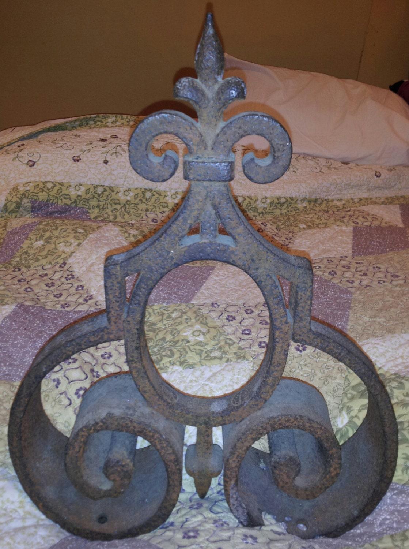 Vintage Fleur De Lis Finial Cast Iron Finial Cast Iron Home