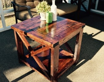 Rustic Farmhouse Side Table